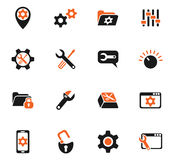 Insieme dell'icona delle regolazioni Immagini Stock Libere da Diritti