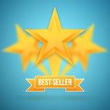 Insieme dell'icona delle stelle d'oro di vettore Icona Templa della stella d'oro del best-seller Fotografia Stock