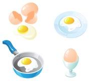 Insieme dell'icona delle uova Immagini Stock Libere da Diritti