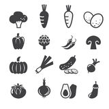 Insieme dell'icona delle verdure Immagine Stock