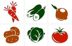 Insieme dell'icona delle verdure Fotografia Stock Libera da Diritti