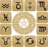 Insieme dell'icona dello zodiaco Fotografia Stock Libera da Diritti