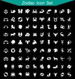 Insieme dell'icona dello zodiaco Immagini Stock