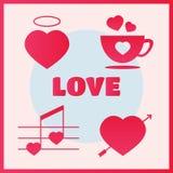 Insieme dell'icona di amore Fotografie Stock