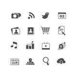 Insieme dell'icona di applicazioni del Internet Fotografia Stock Libera da Diritti