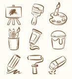 Insieme dell'icona di arte illustrazione di stock