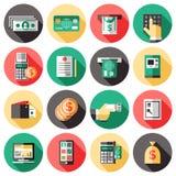 Insieme dell'icona di bancomat illustrazione di stock