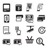 Insieme dell'icona di bancomat Fotografia Stock Libera da Diritti