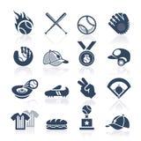 Insieme dell'icona di baseball Immagine Stock