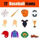 Insieme dell'icona di baseball Fotografia Stock Libera da Diritti