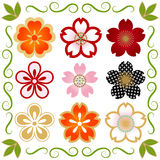 Insieme dell'icona di Cherry Blossom illustrazione di stock