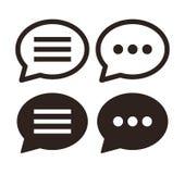 Insieme dell'icona di chiacchierata illustrazione vettoriale