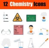 Insieme dell'icona di chimica Fotografia Stock Libera da Diritti