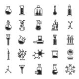 Insieme dell'icona di chimica, stile semplice illustrazione vettoriale