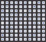 Insieme dell'icona di 100 Ciao-tecnologie, quadrato Immagini Stock Libere da Diritti