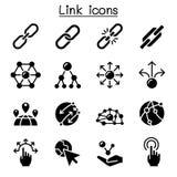 Insieme dell'icona di collegamento royalty illustrazione gratis