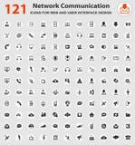 Insieme dell'icona di comunicazione Immagini Stock Libere da Diritti