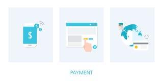 Insieme dell'icona di concetto di pagamento Fotografia Stock Libera da Diritti