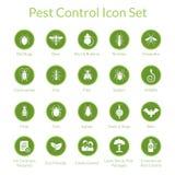 Insieme dell'icona di controllo dei parassiti Fotografia Stock Libera da Diritti
