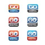 Insieme dell'icona di Digital Fotografia Stock
