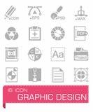 Insieme dell'icona di disegno grafico illustrazione di stock
