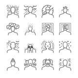 Insieme dell'icona di disturbi mentali royalty illustrazione gratis