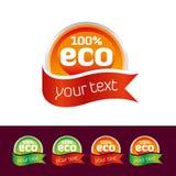 Insieme dell'icona di Eco Fotografia Stock