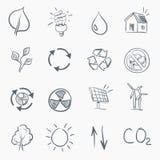 Insieme dell'icona di Eco Skerch Immagini Stock