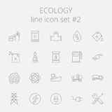 Insieme dell'icona di ecologia royalty illustrazione gratis