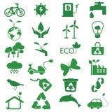 Insieme dell'icona di ecologia e environmant Fotografie Stock Libere da Diritti