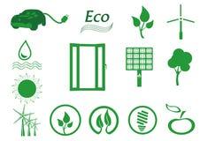 Insieme dell'icona di ecologia. Eco-icone. Immagini Stock Libere da Diritti