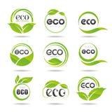 Insieme dell'icona di ecologia. Eco-icone Fotografie Stock Libere da Diritti