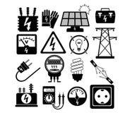 Insieme dell'icona di elettricità Immagini Stock