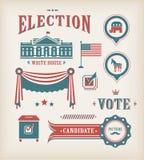 Insieme dell'icona di elezione degli S.U.A. Fotografie Stock Libere da Diritti