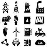 Insieme dell'icona di energia Immagini Stock Libere da Diritti