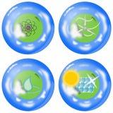 Insieme dell'icona di energia alternativa Immagine Stock Libera da Diritti