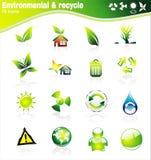 Insieme dell'icona di Environmetal illustrazione di stock