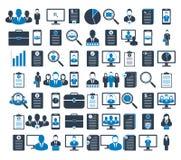 Insieme dell'icona di finanze e di affari illustrazione di stock
