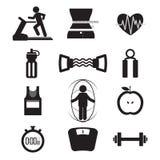 Insieme dell'icona di forma fisica Fotografia Stock Libera da Diritti
