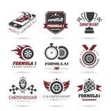 Insieme dell'icona di formula 1, icone di sport ed autoadesivo - 2 Immagine Stock Libera da Diritti