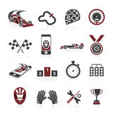 Insieme dell'icona di formula 1, icone di sport ed autoadesivo royalty illustrazione gratis