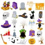 Insieme dell'icona di Halloween Fotografia Stock Libera da Diritti