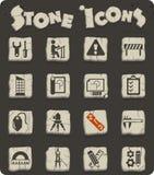Insieme dell'icona di ingegneria royalty illustrazione gratis