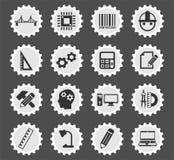 Insieme dell'icona di ingegneria illustrazione di stock