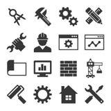 Insieme dell'icona di ingegneria Vettore illustrazione di stock