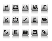 Insieme dell'icona di Internet del sito Web Fotografie Stock Libere da Diritti