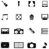 Insieme dell'icona di intrattenimento illustrazione vettoriale