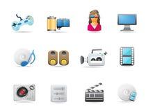 Insieme dell'icona di intrattenimento illustrazione di stock