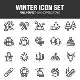 Insieme dell'icona di inverno illustrazione vettoriale
