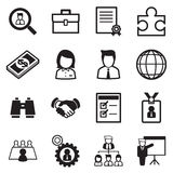 Insieme dell'icona di lavoro Immagine Stock